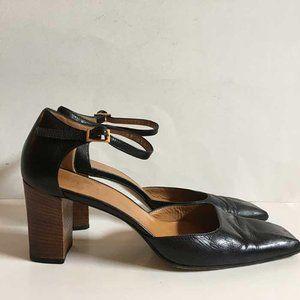 VTG Gucci leather heels w ankle strap 9-9.5 B